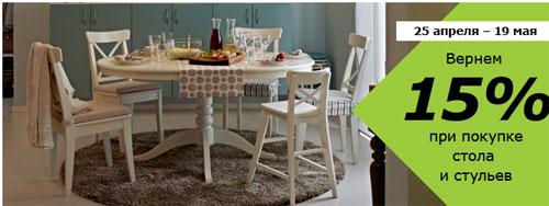 икеа парнас комплект обеденного стола и 4 х стульев со скидкой 15